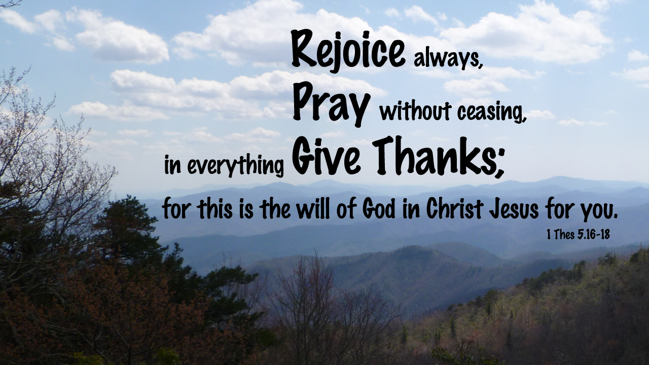 1 Thessalonians 5:15-18